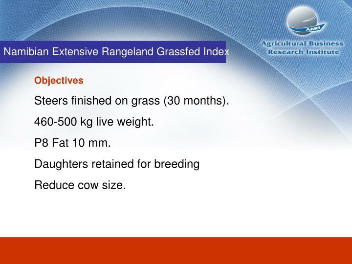 Namibian Extensive Rangeland Grassfed Index