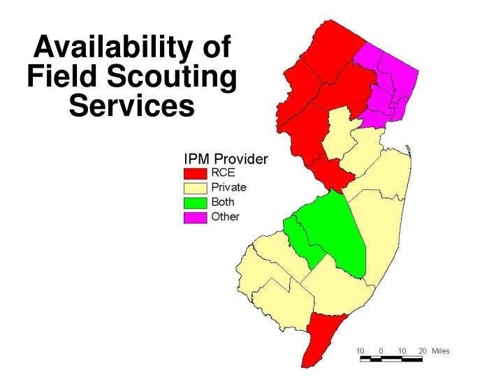 Availability of Field Scouting Services