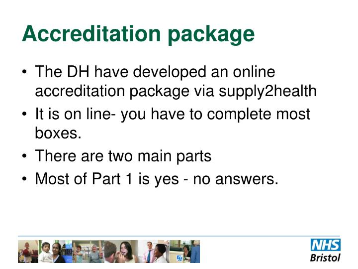 Accreditation package