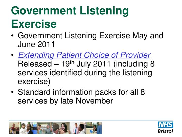 Government Listening Exercise