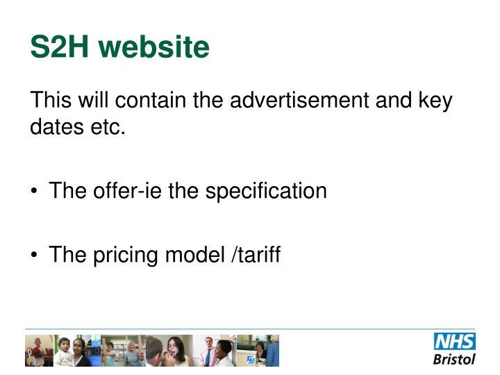 S2H website