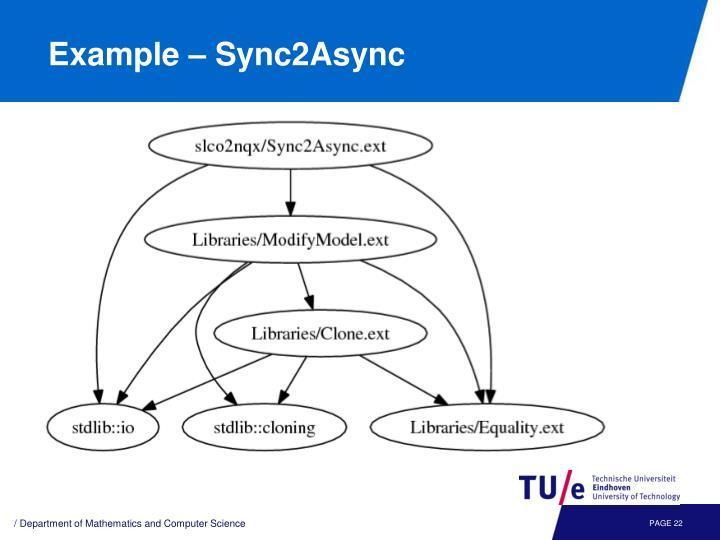 Example – Sync2Async