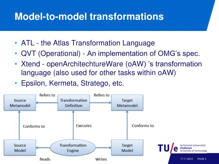 Model-to-model transformations