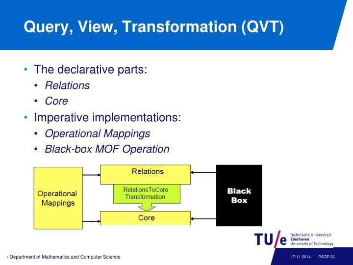 Query, View, Transformation (QVT)