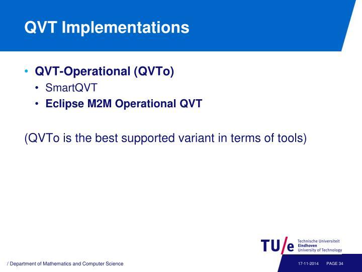 QVT Implementations