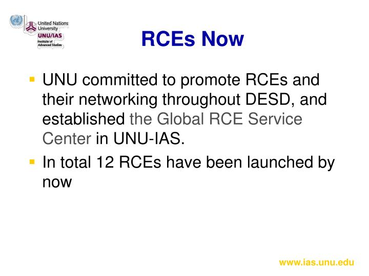 RCEs Now
