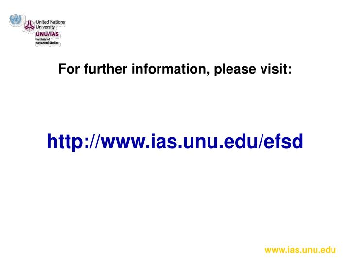 For further information, please visit: