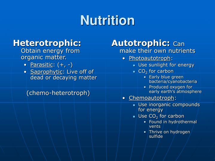 Heterotrophic: