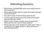 debriefing questions