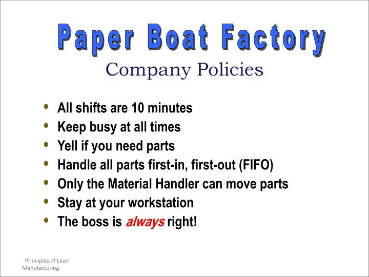 Paper Boat Factory