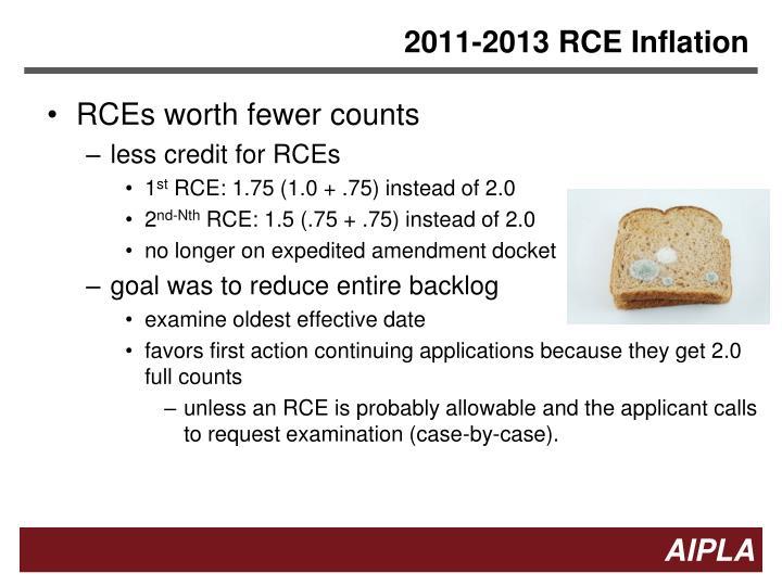 2011-2013 RCE Inflation