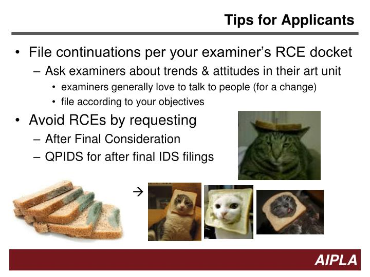 Tips for Applicants
