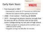 early ham years