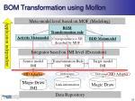 bom transformation using moflon
