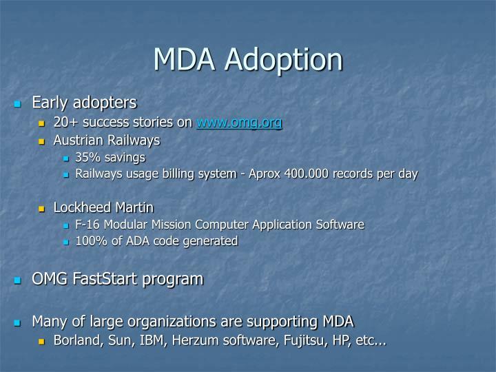 MDA Adoption