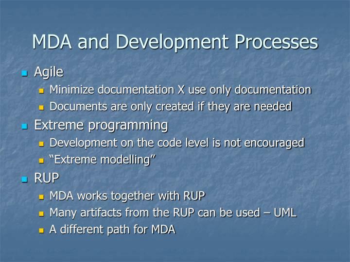 MDA and Development Processes