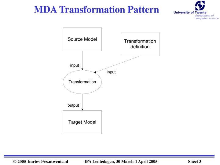 MDA Transformation Pattern