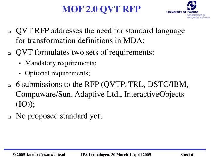 MOF 2.0 QVT RFP