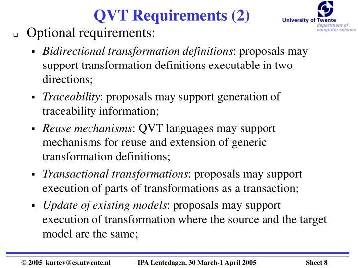 QVT Requirements (2)