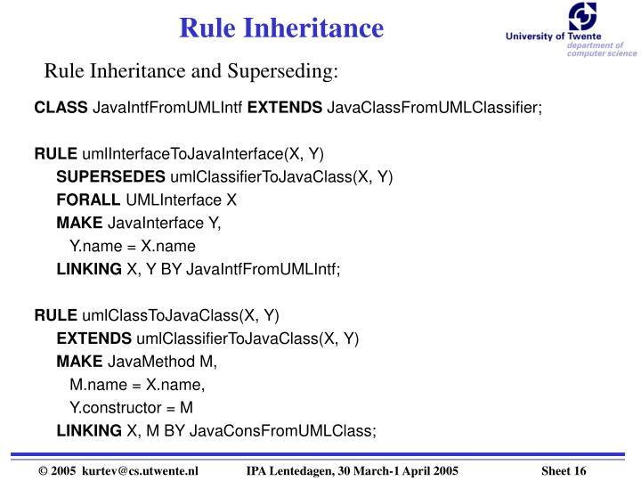 Rule Inheritance