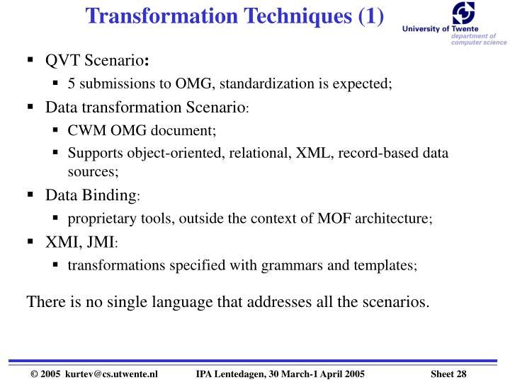 Transformation Techniques (1)