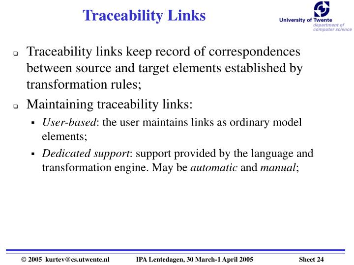 Traceability Links