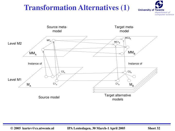 Transformation Alternatives (1)