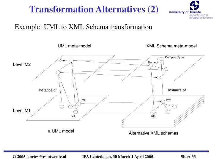 Transformation Alternatives (2)