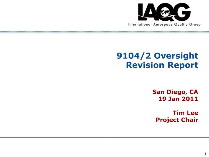 9104 2 oversight revision report