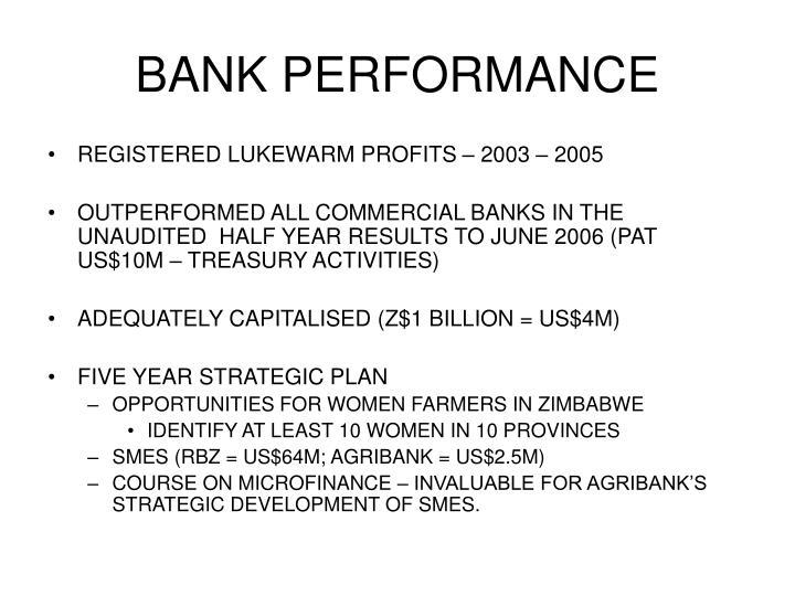 BANK PERFORMANCE