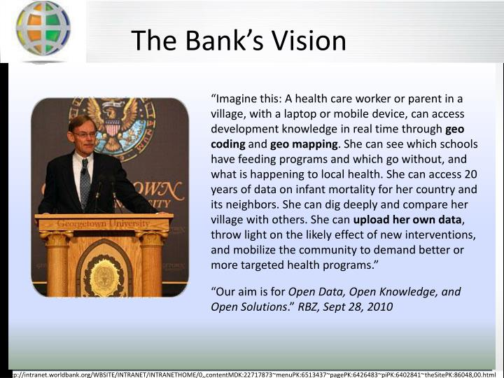 The Bank's Vision