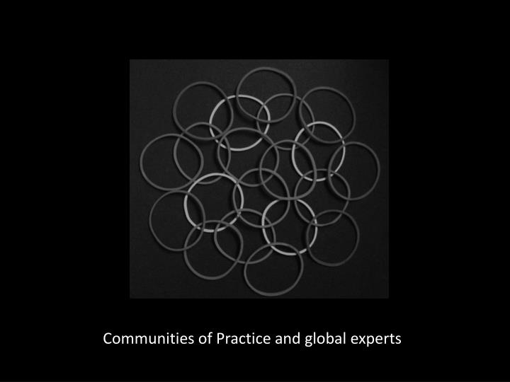 Communities of Practice and global experts