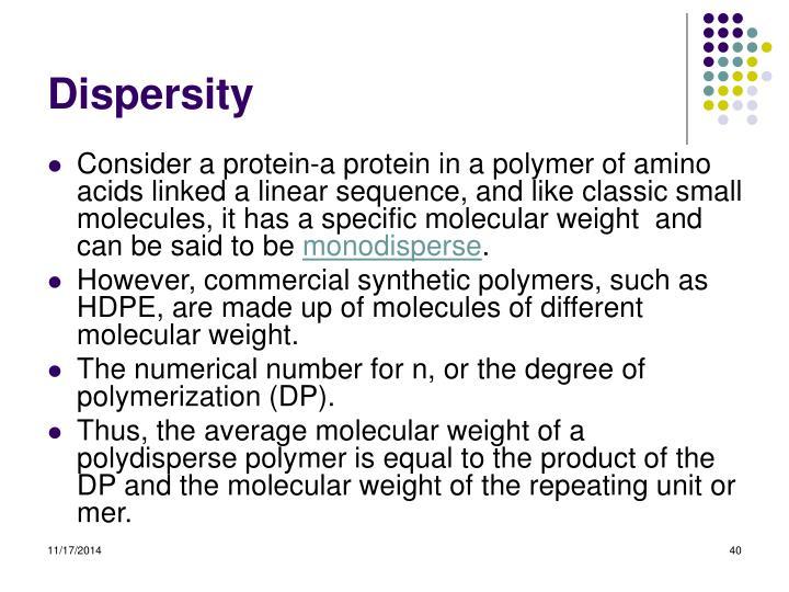 Dispersity