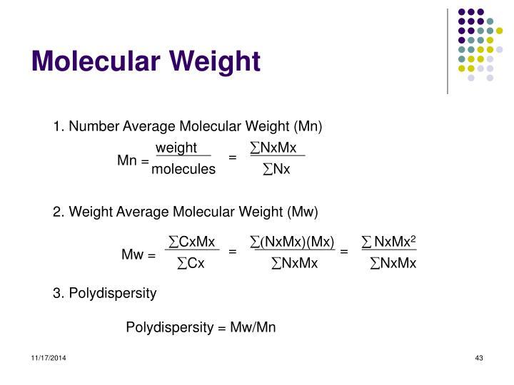 1. Number Average Molecular Weight (Mn)