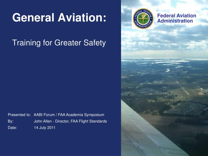 general aviation training for greater safety
