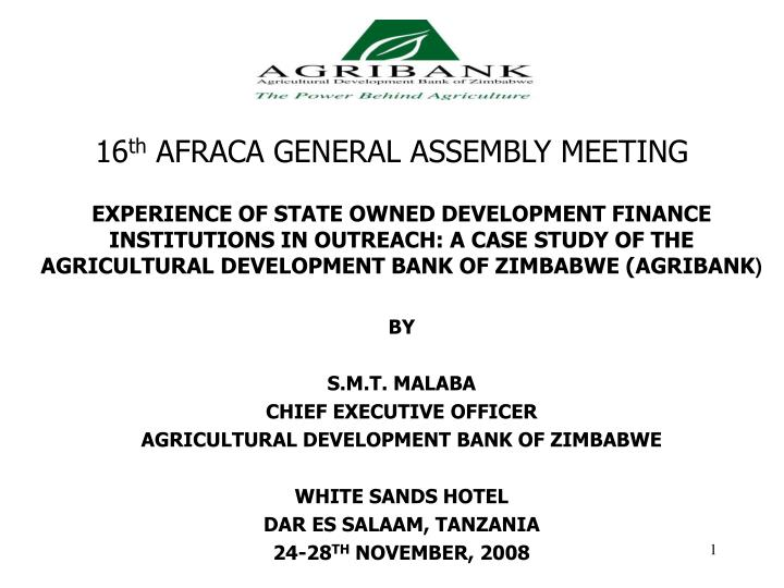 16 th afraca general assembly meeting
