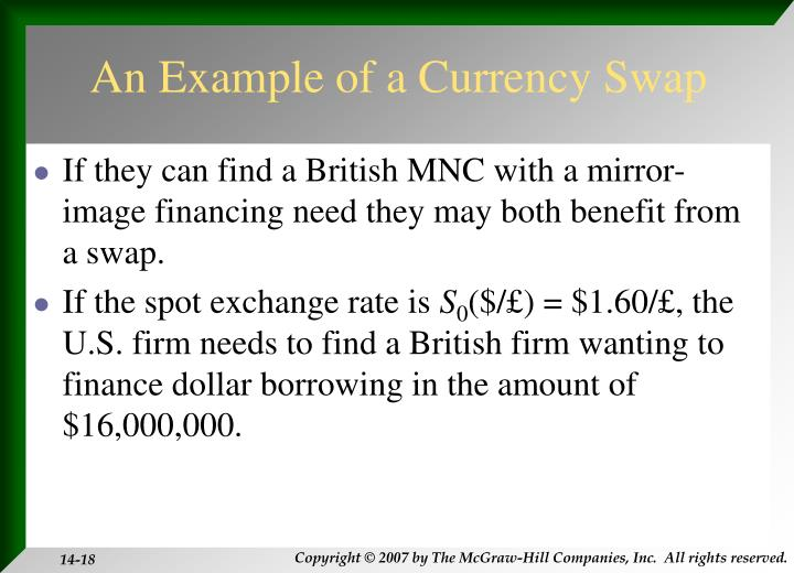 An Example of a Currency Swap