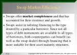 swap market efficiency
