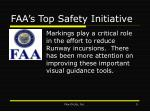 faa s top safety initiative
