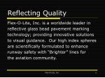 reflecting quality