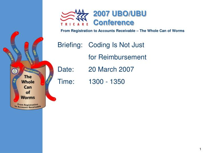briefing coding is not just for reimbursement date 20 march 2007 time 1300 1350