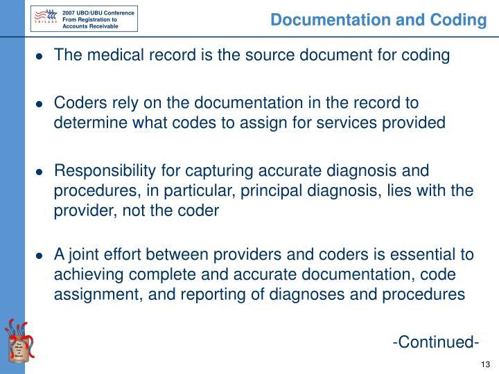 Documentation and Coding
