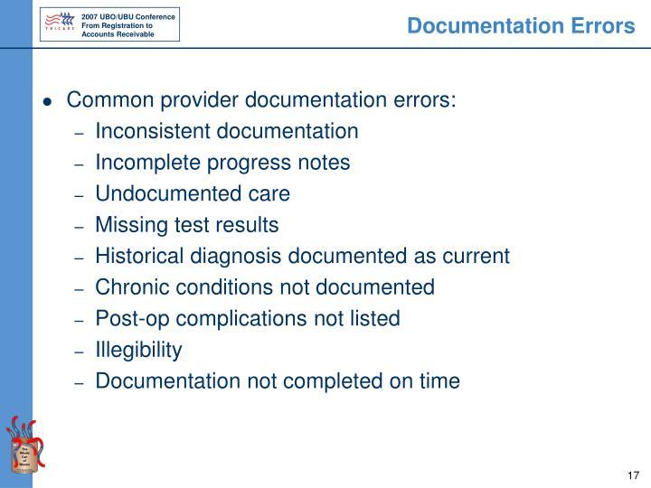 Documentation Errors