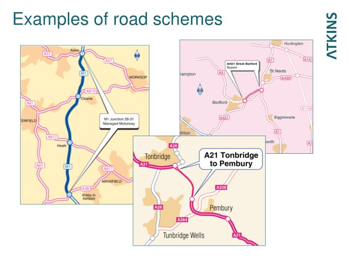Examples of road schemes