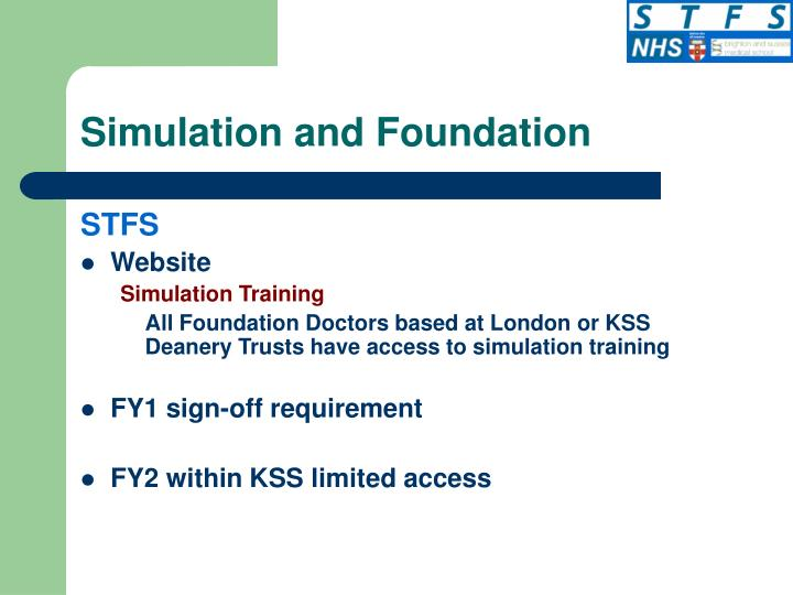 Simulation and Foundation