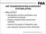 air transportation oversight system atos3