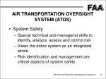 air transportation oversight system atos7