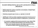 flight operational quality assurance foqa program