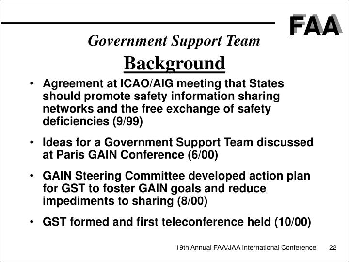 Government Support Team
