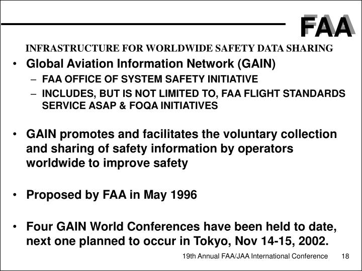 INFRASTRUCTURE FOR WORLDWIDE SAFETY DATA SHARING